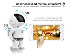 Security Camera 960P HD Wireless Space Robot Camera Baby Mon