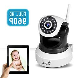 Dragon Touch SMART ONE HD 960P Wireless Baby Monitor Pan/Til