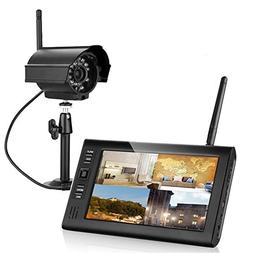Ennio 7 Inch TFT Digital 2.4g Wireless Cameras Audio Video B