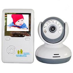 "ZTHY 2.4"" TFT LCD Wireless IR Infant Baby Monitor Video Talk"