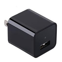 USB Wall Charger Camera 1080P HD Nanny Camera with 32GB Inte