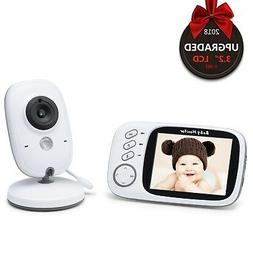 Video Baby Monitor-3.2inch LCD Display Camera with Night Vis