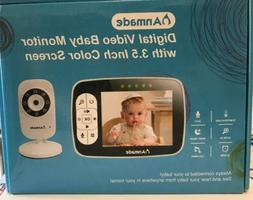 "Anmade Video Baby Monitor 3.5"" Color Screen with Camera, Nig"