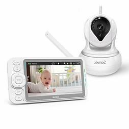 Samxic Video Baby Monitor 720P Camera 5 In Display Alert Two