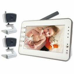 Video Baby Monitor with 2 Cameras, 4.3 Inches Large Screen b
