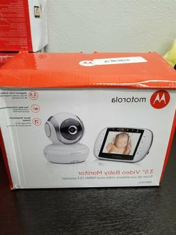 "Motorola - Video Baby Monitor with 3.5"" Screen - Black/Gray"