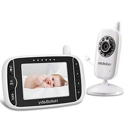 Video Baby Monitor with Audio Microphone Lullabies & Long Ba