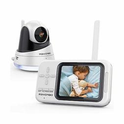 """DBPOWER Video Baby Monitor with Camera and Audio, 3.5"""" LCD B"""