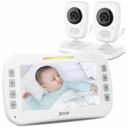 "Video Baby Monitor with Two Cameras and 5"" Screen by Axvue,"
