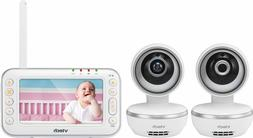 """VTech - Video Baby Monitor with  Cameras and 4.3"""" Screen -VM"""
