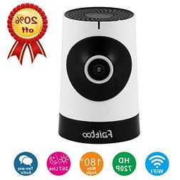 Faittoo 720P 180-Degree Wi-Fi Camera w/Email Alarm 1.44mm Le