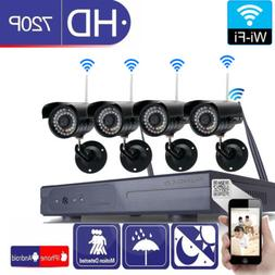 Wireless 8CH NVR In/Outdoor WIFI IR-CUT Camera Motion Detect