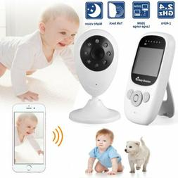 "Wireless Baby Monitor 2.4""LCD Security Camera IR LED Night V"