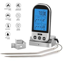 Wireless Meat Thermometer for Grilling - Digital LCD Cooking