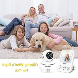 Wireless Video Baby Monitor with 3.5'' Digital Color LCD Scr