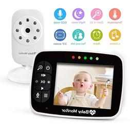 "Wireless Video Baby Monitors with 3.5"" Large LCD Screen Nigh"