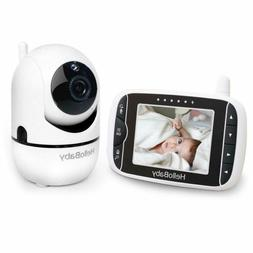 HelloBaby Wireless Video Baby Monitor with 3.2Inch LCD Displ