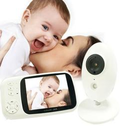 Wireless Video Color Baby Monitor with 3.2Inches LCD 2 Way A