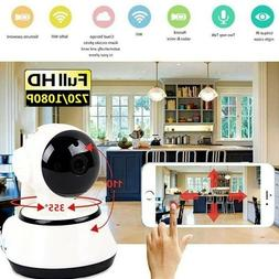 Wireless WIFI 720P Pan HD Security IP Camera IR Night Home W