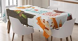 Woodland Tablecloth Linen Decor Table Cover for Kitchen Dinn
